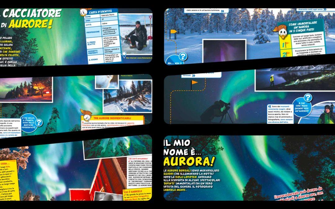 Il cacciatore friulano di aurore boreali Gabriele Menis protagonista di due servizi speciali su Topolino e Il Manuale delle Giovani Marmotte